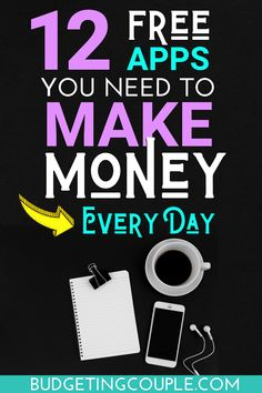 These (free) money making apps are your key to getting an extra income from your phone! These 12 apps are the best android and iPhone apps that pay you money for doing almost nothing! This is the perfect side hustle idea for busy people! Best Money Making Apps, Money Saving Tips, Money Hacks, Money Tips, Earn Money Online, Online Jobs, Make Money From Home, Way To Make Money, Best Finance Apps