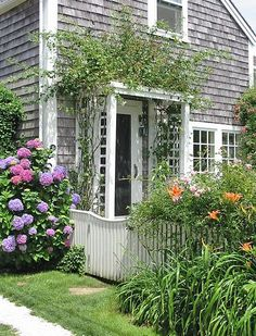 Exterior Doors | add an arbour to the front door to create a whole new entrance | Bayer Built Woodworks