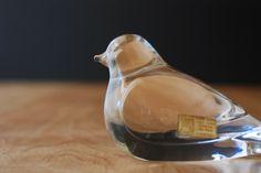 Glass Bird Figurine by Hadeland Glassverk of Norway - Leaded Crystal - Original Label. $29.00, via Etsy. Glass Birds, Danish Modern, Bird Art, Wine Decanter, Norway, Label, Ceramics, Crystals, Unique Jewelry