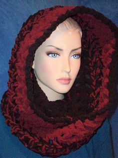 Hey, I found this really awesome Etsy listing at https://www.etsy.com/listing/465987306/black-crochet-infinity-scarf-burgundy