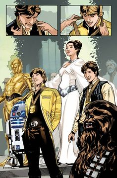 Star Wars - Princess Leia #1 interior art by Terry Dodson, Rachel Dodson, and Jordie Bellaire *