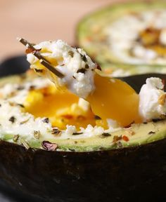 I love goat cheese. I love avocado. I love eggs. And lucky for us, they all love each other, too. These perfectly portioned goat cheese avocado eggs are a breeze to whip up for an easy no-fuss brunch…but we won't judge you for eating them at all hours! Plus, they make a great alternative for all the heavy holiday food you'll be chowing down in the next few weeks.