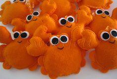 ♥♥♥ Os caranguejinhos do Benjamin... by sweetfelt \ ideias em feltro, via Flickr