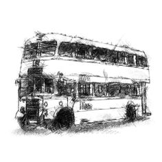 Fine Art Drawing, Art Drawings, London Bus, Sketch A Day, Shop Art, Uk Shop, Surface Design, Giclee Print, How To Draw Hands