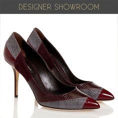 Dolce & Gabbana Mixed Leather Stiletto Heel Pumps $349.99
