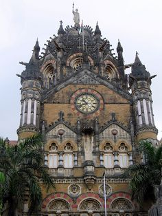 Chatrapati Shivaji Terminus |  UNESCO World Heritage Site built in 1887 - historic railway station which serves as the headquarters of the Central Railways in Mumbai, India | by Sunil Kashikar, via Flickr
