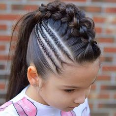 28 Amazing Braids Models and Hairstyles for Girls - Pin Store Lil Girl Hairstyles, Girls Natural Hairstyles, Braided Hairstyles, Cool Hairstyles, Cool Braids, Braids For Short Hair, Amazing Braids, Hair Ponytail Styles, Short Hair Styles