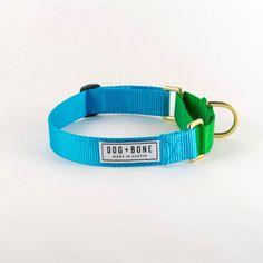 Martingale Dog Collar Made in Austin Texas l Dog + Bone - Olive