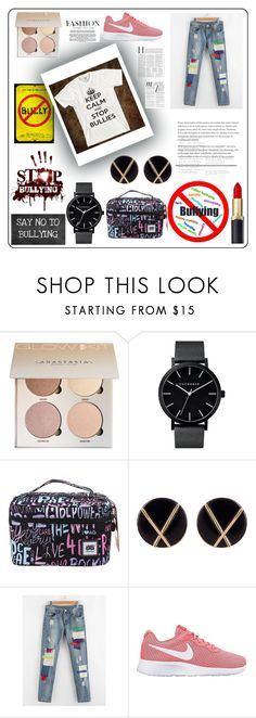 """No Bullies"" by katiephan on Polyvore featuring AfterGen, Botkier, NIKE, Whiteley and anti"
