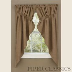 """72""""W (total) x 63""""L Brown and tan mini check Fully Lined 100% cotton Drawstring adjusts to most window widths Two mirrored swags per package (each 36""""W) 1.5"""" Header with 1.75"""" rod pocket Dry Cleaning recommended for best results and to prevent shrinkage. Shades of Brown Collection by Park Designs delivers a fresh neutral palette that appeals to country as well as traditional styles. Gathered Swags create a softprofile for your windows. Dry clean for best results and..."""