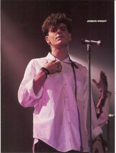 JORDAN KNIGHT pinup – On stage in white shirt!