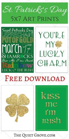 Bring a splash of color and cheer to your home with this collection of free St. St Patrick's Day Crafts, Holiday Crafts, Holiday Ideas, St Paddys Day, St Patricks Day, Printable Activities For Kids, Free Printables, St Patrick's Day Decorations, St Pats
