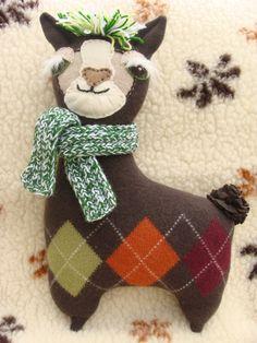Your place to buy and sell all things handmade Llama Pillow, Llama Plush, Llama Llama, Sock Animals, Plush Animals, Diy Stuffed Animals, Dinosaur Stuffed Animal, Sock Toys, Cute Llama