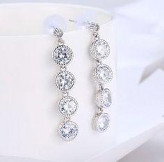 3.55 Ct Round Cut halo rose Simulated Diamond Drop Dangle Boucles d/'oreilles 14k Or Rose