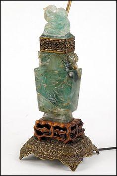 10 Best Antique Carved Jade Lamp Images Carving