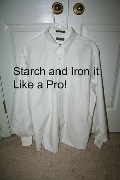 How to starch jeans, homemade starch recipie  I do this ALL THE TIME