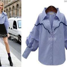 Pointed Collar Striped Blouse Top  9.99US$  Wholesale7 Item No. CMJ030408BU※    #Blouse #Top #Pointed #Collar #Striped #pretty #cute #me #love #stylish #style #fashion #skirt #dress #model #shopping #following #me #followforfollow #f4f #follow