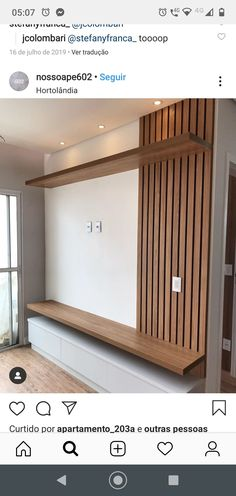 Tv Unit Interior Design, Tv Unit Furniture Design, Tv Wall Design, House Design, Home Living Room, Living Room Decor, Modern Tv Wall Units, Modern Tv Room, Tv Unit Decor