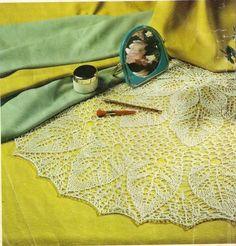"Photo from album ""Igla i Nitka on Yandex. Crochet Doilies, Knit Crochet, Knit Fashion, Lace Knitting, Views Album, Outdoor Blanket, Tote Bag, Yandex Disk, Tablecloths"