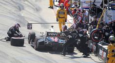 Will Power makes a mid-race pit stop on his way to winning the race. (Scott Varley, PRESS-TELEGRAM)