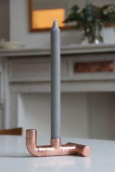 Bougeoir en cuivre - DIY copper candle holder by Auguste & Claire