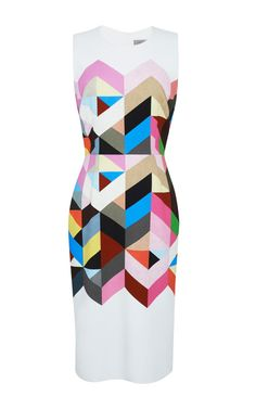 Shop Printed Crepe Issy Dress by Preen for Preorder on Moda Operandi