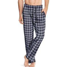 Hanes Big Men's Printed Sleep Pant, Size: 2XL, Black