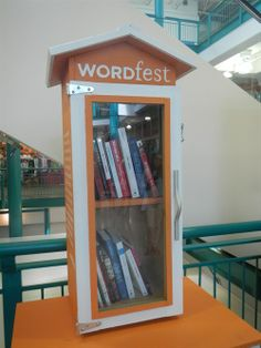 Checkout newest #YYC Wordfest Little Free Library in Eau Claire Market. Books are moving...