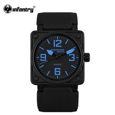 Buy now INFANTRY Mens Quartz Watches Marine Military Sports Military Watch Original Brand Aviator Blue Silicone Watch Relogio Masculino just only $13.19 with free shipping worldwide  #menwatches Plese click on picture to see our special price for you