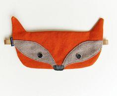 Fuchs Schlafmaske / Schlafbrille mit Beutel von Szududu auf DaWanda.com