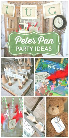 Come away to Neverland at this magical Peter Pan birthday party! See more party ideas at CatchMyParty.com!