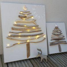 sapin-Noel-original-bois-flotté-canvas-toile-vierge
