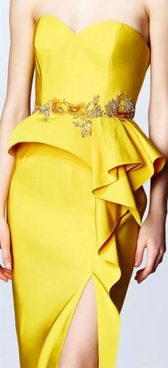 Marchesa Notte women fashion outfit clothing style apparel closet ideas - Tap the link to shop on our official online store! You can also join our affiliate and/or rewards programs for FREE! Image Fashion, Yellow Maxi Dress, Yellow Fashion, Mellow Yellow, Beautiful Gowns, Dream Dress, Women's Fashion Dresses, High Fashion, Evening Dresses