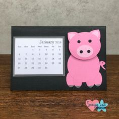DESK CALENDARS 2019 - Year of the Pig