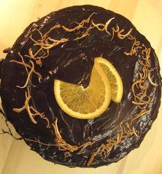 Macaron and cake: Čokoládový dort s pomerančem