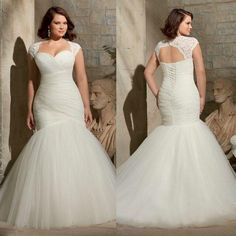 Is shopping for a plus size wedding dress causing you more stress and exhaustion than it is worth? You deserve to look your absolute best you your wedding day and if that means finding plus size wedding dresses that y. Plus Size Brides, Plus Size Wedding Gowns, 2015 Wedding Dresses, Tulle Wedding, Bridal Dresses, Mermaid Wedding, Event Dresses, Modest Wedding, Lace Weddings