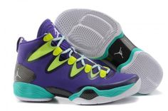 official photos 6c256 83302 Mardi Gras Michael Jordan 28 SE Russell Westbrook Neon Green and Purple  Color Mens Shoes