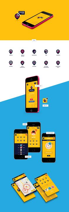 Carpooling application concept on Behance