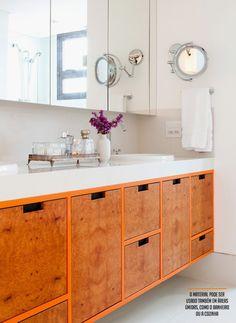Banheiros: armário espelho