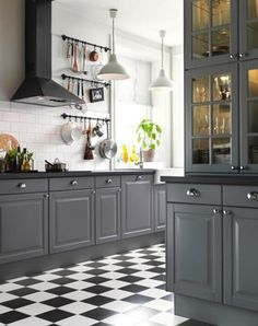 Stunning gray kitchens we're loving right now: http://www.stylemepretty.com/collection/2748/