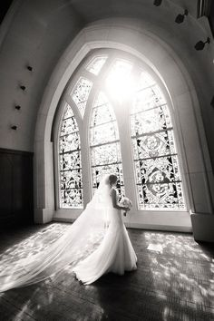 Full length wedding dresses, black and white church wedding photo shoots, white flowers bouquets #2014 #ideas #Easter #Craft #food #home decor