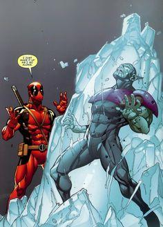 Deadpool vs Super Skrull - Paco Medina