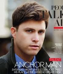 Colin Jost on anchor man. he is the cutest man alive.