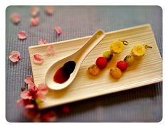 Cooking with flowers: Cherry blossom and fruit with Traditional Balsamic...