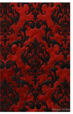 'Red Velvet Damask' iPhone Case by Megan Noble Red And Black Wallpaper, Damask Wallpaper, Wallpaper Iphone Cute, Cellphone Wallpaper, Wallpaper Backgrounds, Wallpaper Designs, Blue Wallpapers, Velvet Wallpaper, Gothic Wallpaper