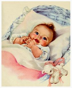 Vintage newborn baby cute postcard - baby gifts child new born gift idea diy cyo special unique design Vintage Baby Pictures, Baby Images, Baby Photos, Free Images, Baby Girl Cards, New Baby Cards, Vintage Greeting Cards, Vintage Postcards, New Baby Greetings