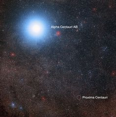 The sky around Alpha Centauri and Proxima Centauri (annotated) | This image of…