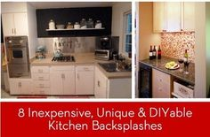 8 Inexpensive, Unique and DIYable Backsplash Ideas