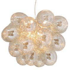 Gross Grande Loftslampe, Amber/Metal - By Rydéns @ RoyalDesign. Bar Pendant Lights, Pendant Lamp, Glass Ceiling Lights, Ceiling Lamp, Luminaire Original, Multi Coloured Pendants, Creative Lamps, Flower Chandelier, Suspension Design