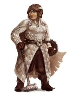 Dwarf Cleric by wood-illustration.deviantart.com